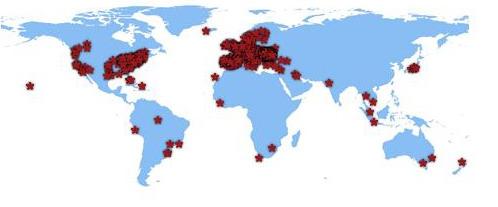 Harta-vizitatorilor din lume